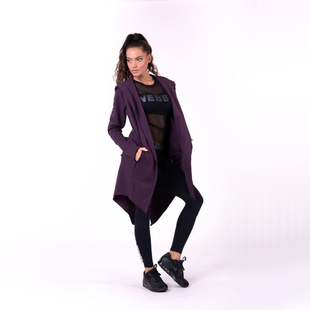 Nebbia Rebel Tail Coat Jacket Burgundy