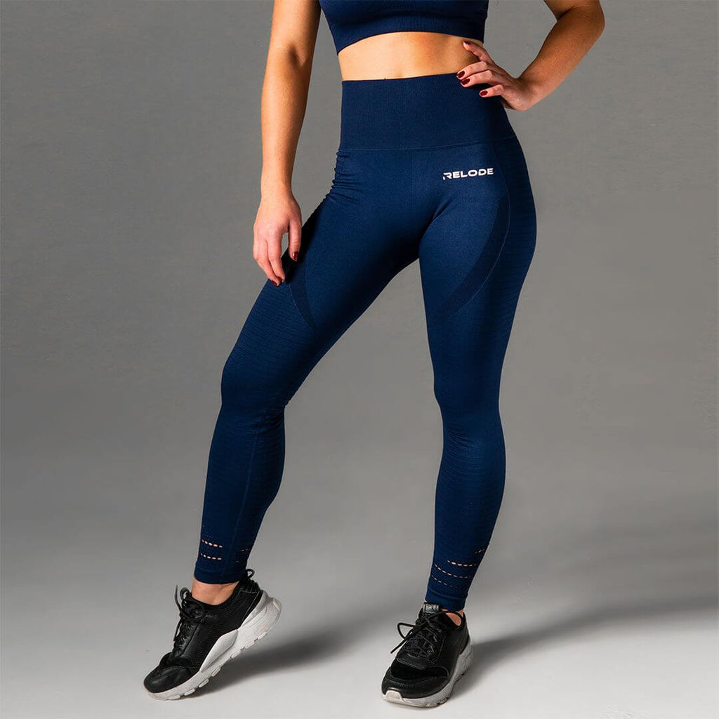 Relode Seamless Power Tights Blue