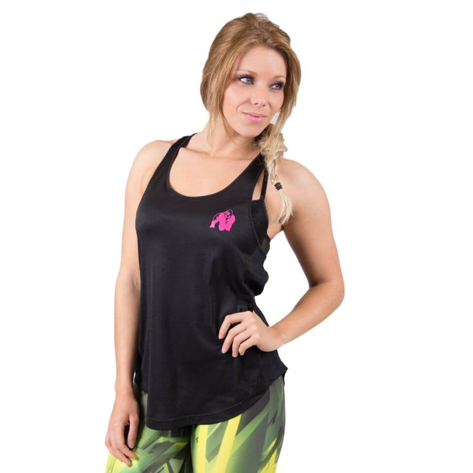 Santa Monica Tank Top Black Pink
