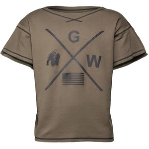 Sheldon Work Out Top Army Green