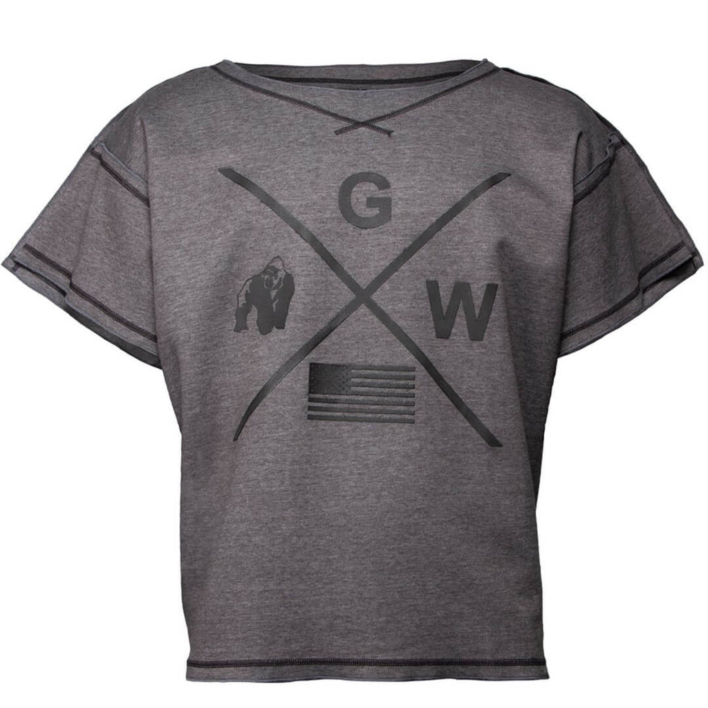 Sheldon Work Out Top Grey