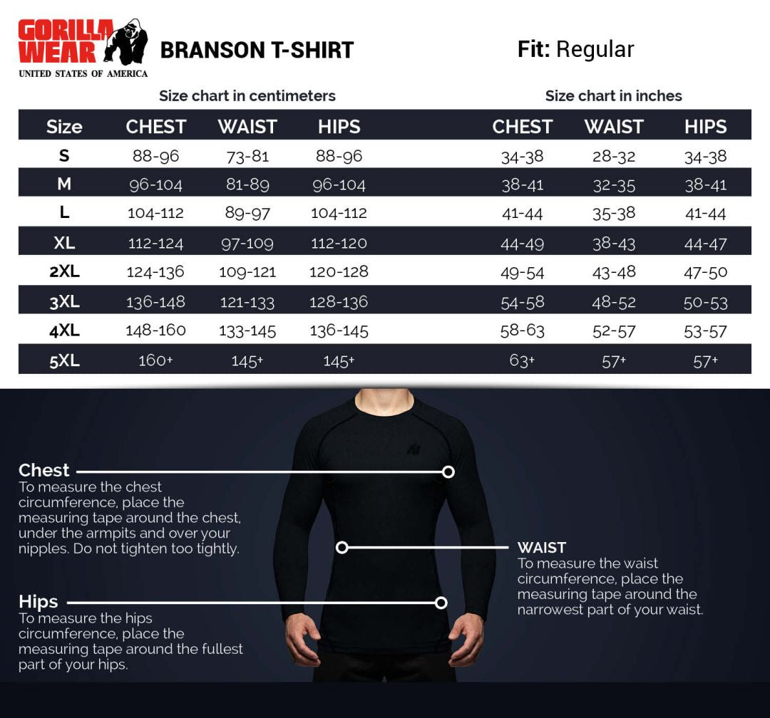 Branson T Shirt Black Grey