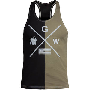 Sterling Stringer Tank Top Black Army Green