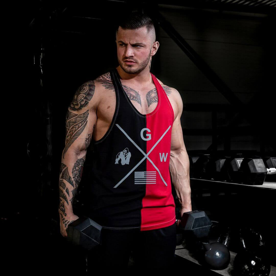 Sterling Stringer Tank Top Black Red