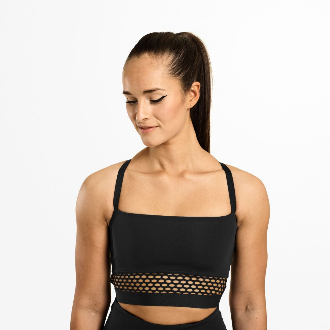Waverly Mesh Bra Black