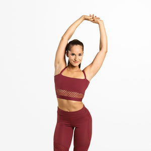 Waverly Mesh Bra Sangria Red