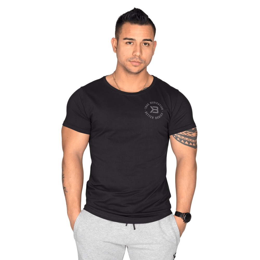 Wide Neck Tee Black