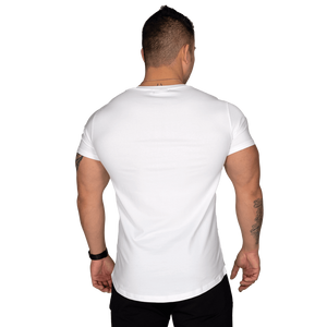 Wide Neck Tee White