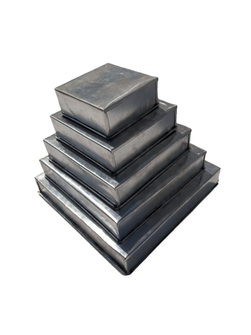 Set of 5 Pure aluminium square pans - Elim production services