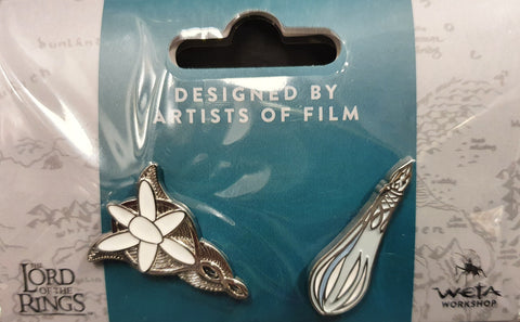 Weta Collectible Pin set. Evenstar and Galadriel's Phial