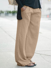 Women Loose Solid Casual Pants