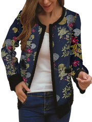 Floral Shift Long Sleeve Outerwear