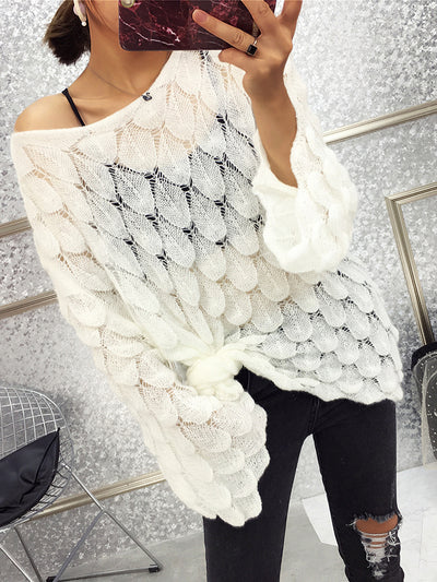 Knitted Shift Long Sleeve Casual Sweater