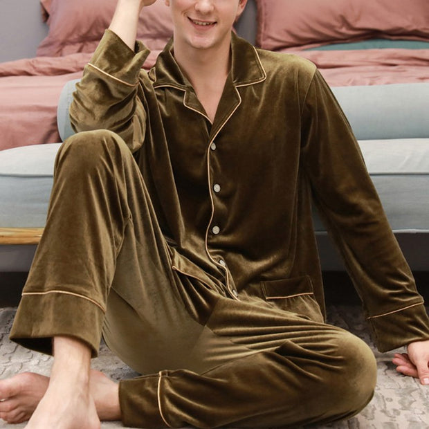 Plain Lapel Sleepwear & Loungewear