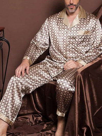 Silk Printed Fashion Pajama Set