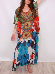 As Picture Batwing Shift Boho Dresses