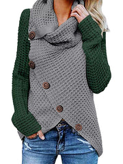 Women Winter Plus Size Warm Long Sleeve Casual Sweater