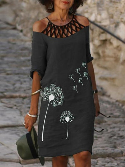 Casual Printed Half Sleeve Dresses