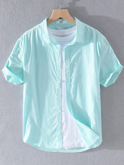 Cotton Shirt Collar Buttoned Shirts & Tops