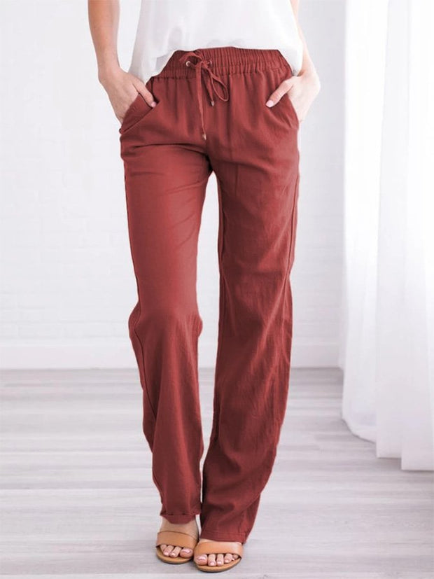 Cotton And Linen Casual Trousers