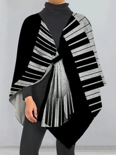 Gray Casual Abstract V Neck Outerwear