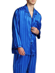 Large Size Jacquard Silk Casual Sleepwear & Loungewear