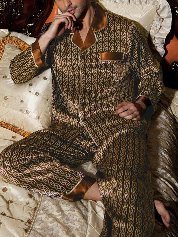 Brown Plain Casual Sleepwear & Loungewear