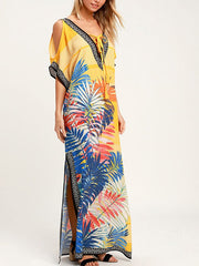Loose vacation beach coverall dress