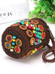 Coconut Shell Boho Zipper Clutches