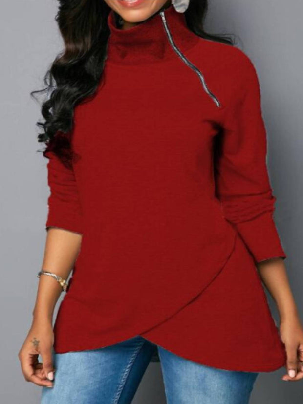 Long Sleeve Turtleneck Sweatshirt