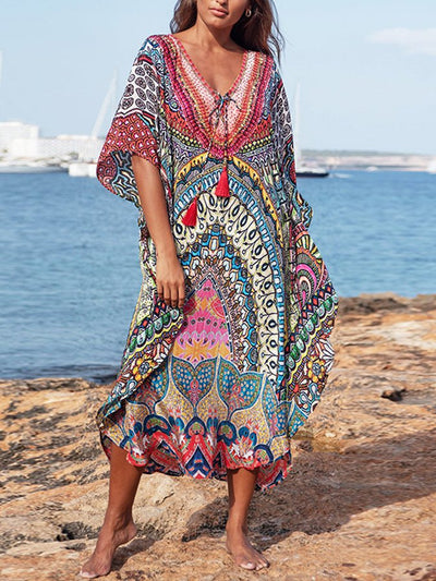 Women's Print Beach Maxi Dress