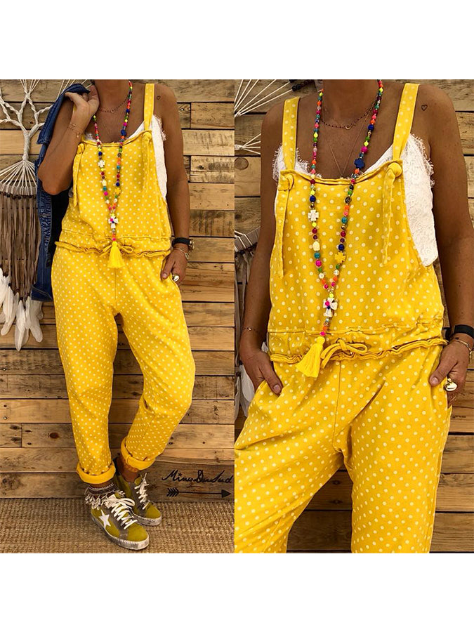 Yellow Cotton Casual Striped Pants