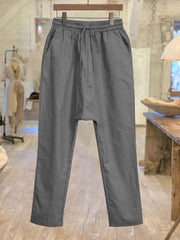 Pockets Solid Casual WomenPants