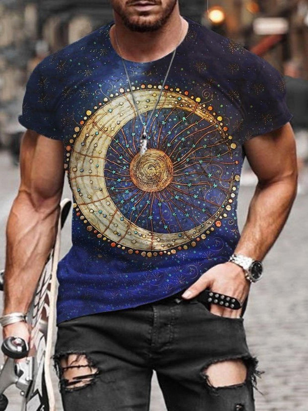 Men's Sun Moon Print T-shirt