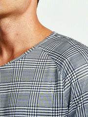 Cotton-Blend Crew Neck Striped Shirts & Tops