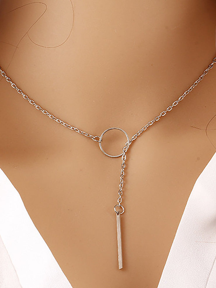 Womens Simple Alloy Necklaces