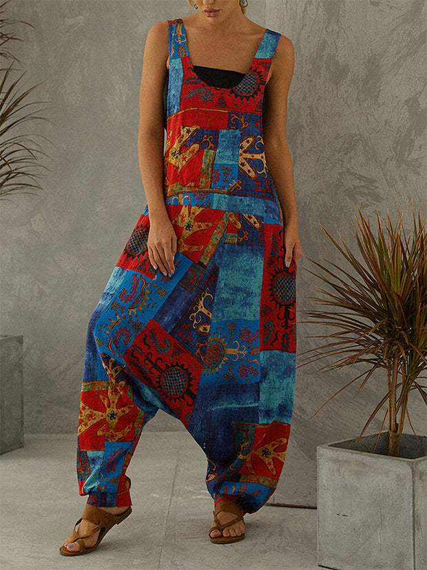 Casual printed jumpsuit