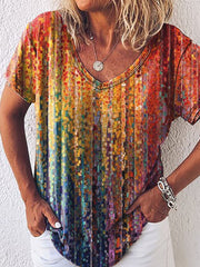 Ombre/tie-Dye Shift Casual Shirts & Tops