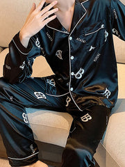 Men's Fashion Casual Printed Home Pajama Set