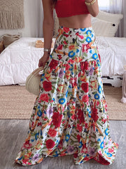 Holiday Floral Swing Skirts