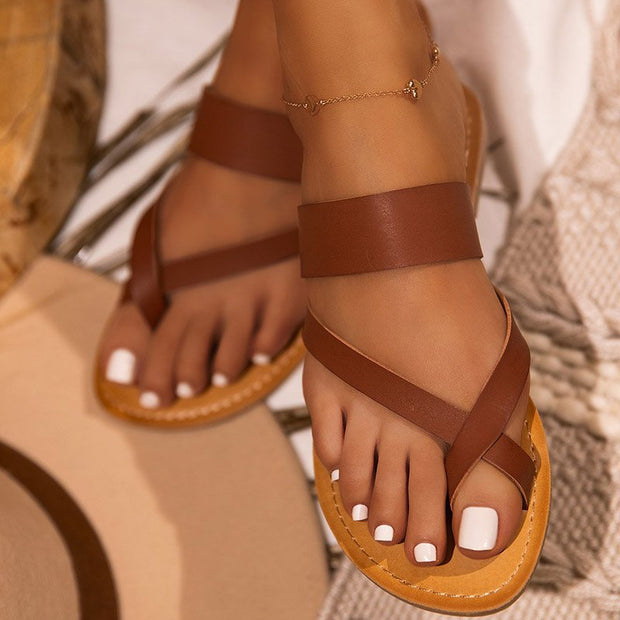 Women Date Flat Heel Summer Sandals