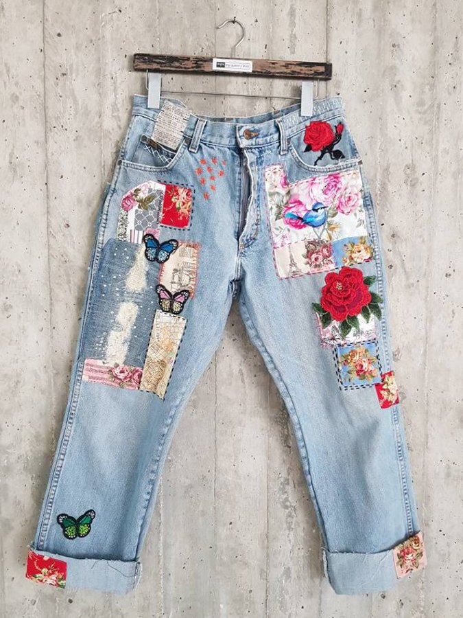 Tannin Embroidery & Casual Jeans