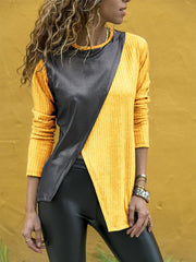 Casual Asymmetric Long Sleeve T-Shirts