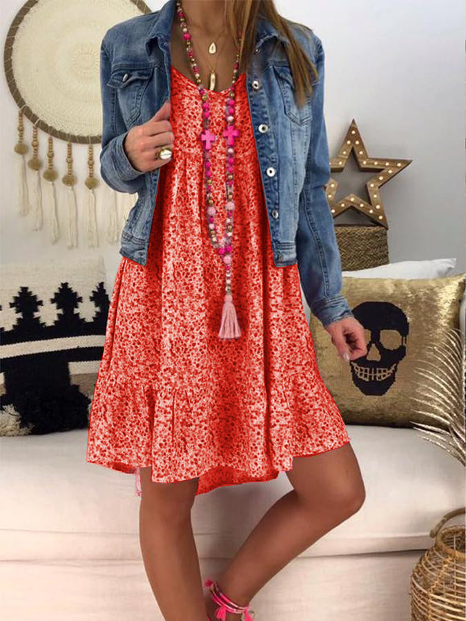 Casual Floral Shift Dresses