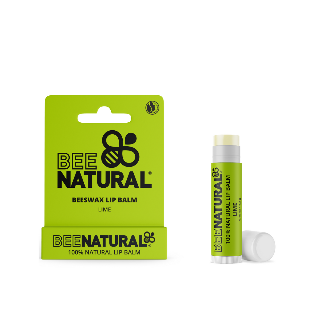 Bee Natural 100% Natural Moisturising Lip Balm - Lime Flavour Free Postage