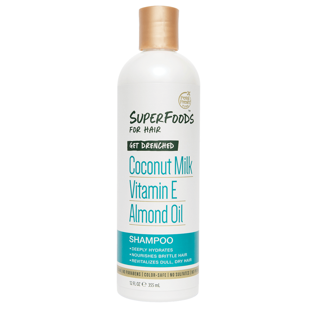 Petal Fresh - Superfoods for hair Get Drenched Coconut Milk Vitamin E Almond Oil Shampoo