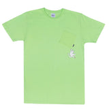 Hang In There Pocket T-Shirt Lime