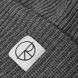 Double Fold Merino Beanie Heather Grey