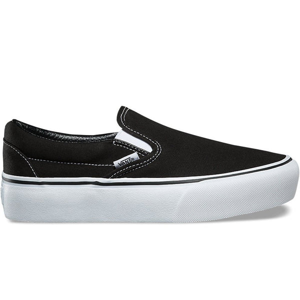 Classic Slip On Platform Black White