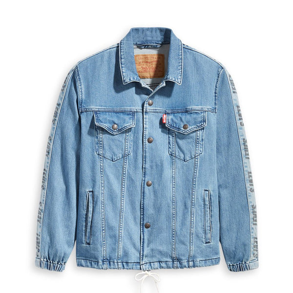 Track Coach's Trucker Buzzer Beater Denim Trucker Jacket